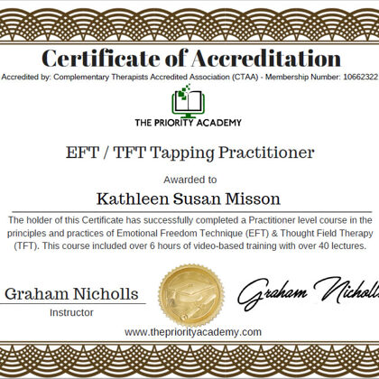 EFT Emotional Freedom Technique Tapping Practitioner