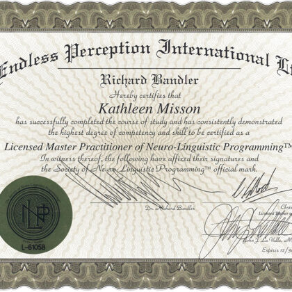 Neuro-linguistic Programming NLP Master Practitioner